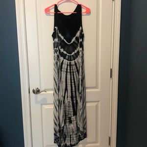 Fresh Produce tie dye high-low hem dress